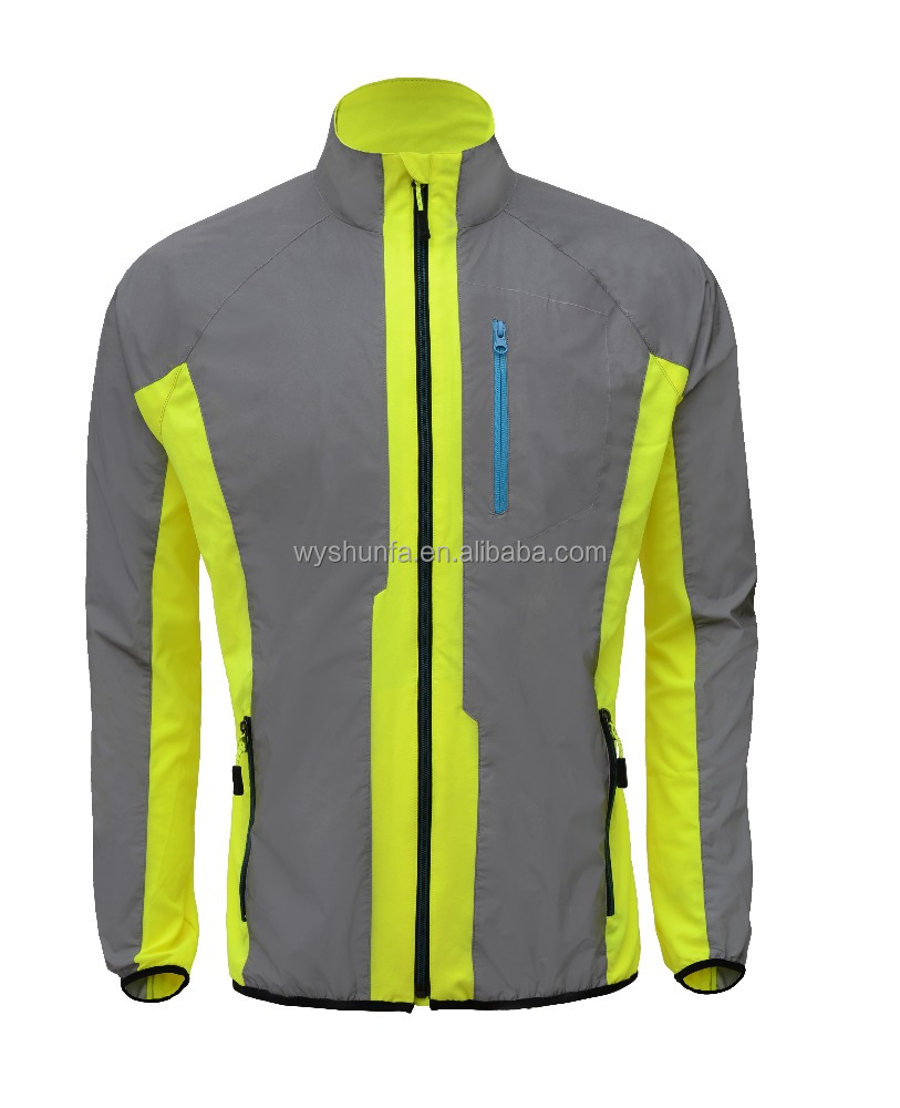 2016 new design reflective running clothing and high quality night high visibility safety vest