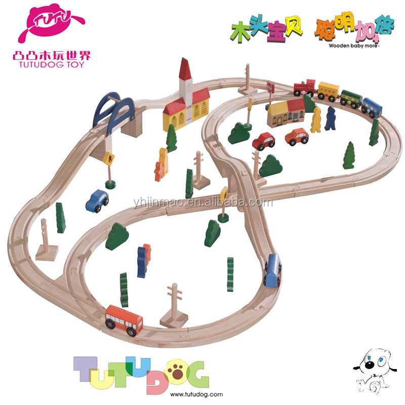 2015 newest wooden running train set toy