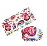 Fashion flower printed multifunctional headwear, muslim headwear