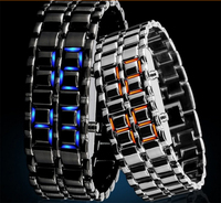 2015 China suplier classic watch fashion Iron Samurai watch/Led watch/led light fashion watch