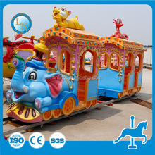 High quality interesting amusement item cheap electric mini train for kids Elephant Train for sale