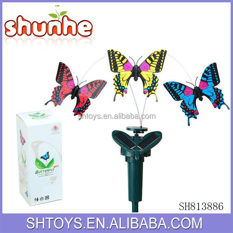 Beautiful flying butterfly toys Solar power butterfly