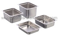 304&201 Shining Stainless Steel Food Pan Gn Pan Hotel Ice Cream Gn Container Sales Factory Price