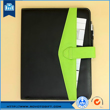 Folder with elastic band , folder elastic straps with memo , pocket folder with pen loop