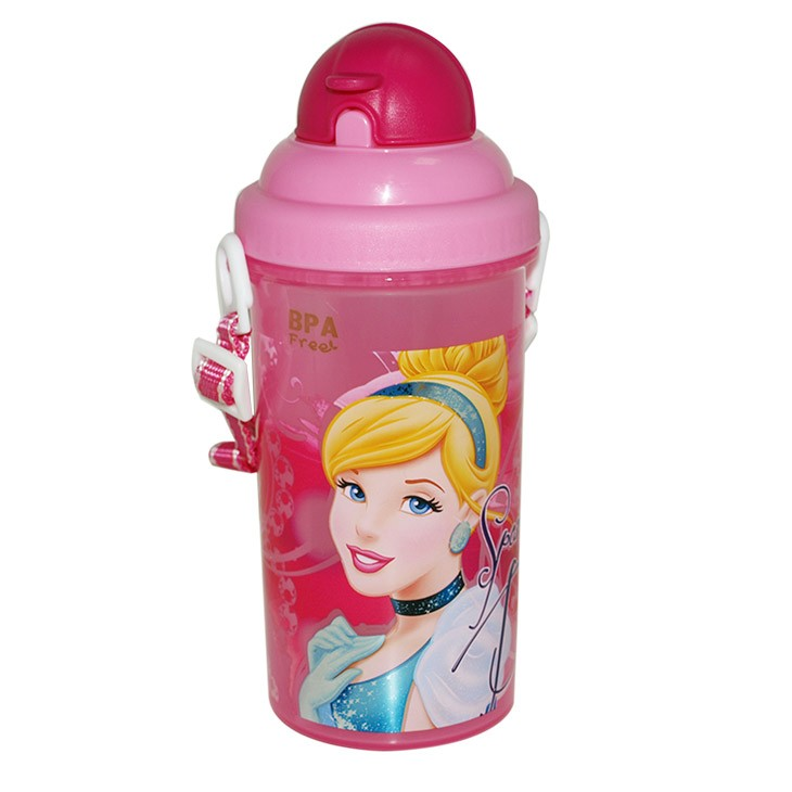 Portable 500ml cartoon kids water bottle custom for kids