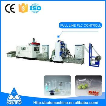 AUTO china thermoforming line plastic cup making machine