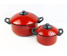 Set of 2 High Quality Non stick coated Pasta Pot&cooking machine