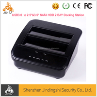 3.5 inch external 8TB SATA double HDD enclosure for HDD and Docking station