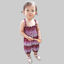 Wholesale baby clothes high quality fabric comfortable spaghetti straps jumpsuit