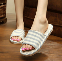 2015 Fashion newest factory cheap indoor women mens PVC air blown sole linen slipper