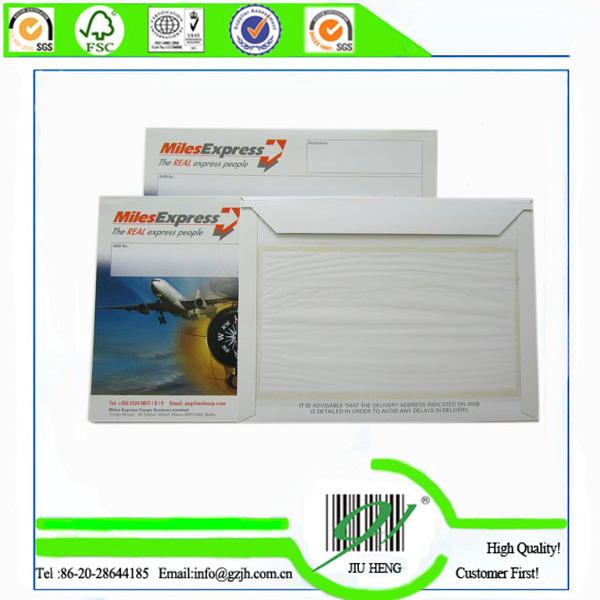 color printed paperboard envelopes for courier company