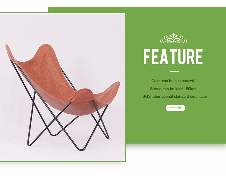 New design leather butterfly chair