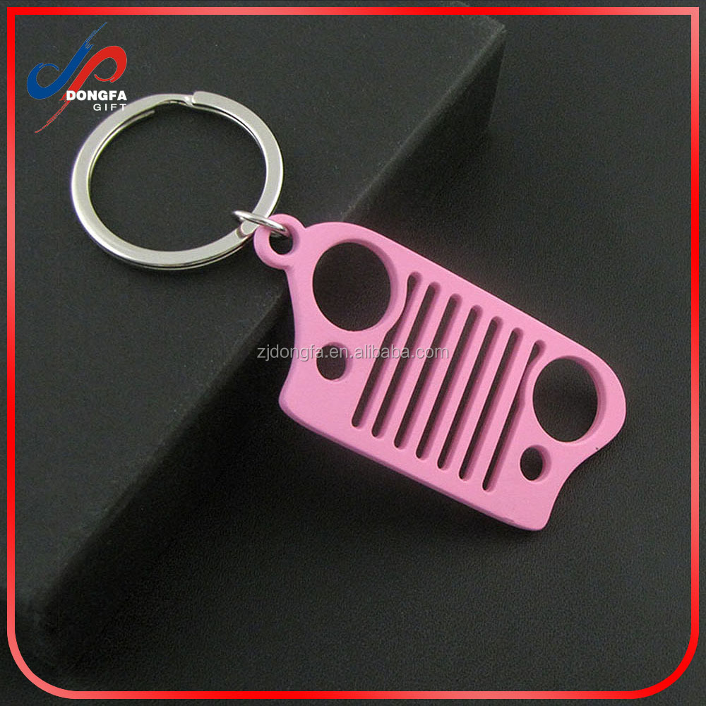 Probrother High Quality Laser-Cut 304 Stainless Steel Jeep Grill Key Chain
