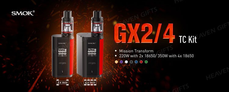 HeavenGifts Smallest Size 2ml/ 5ml 220W/ 350W SMOK GX2/4 Kit with TFV8 Big Baby