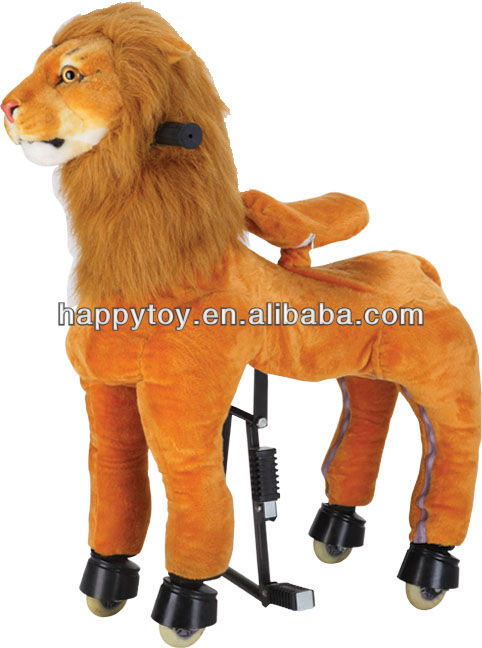 HI CE Hot Sale brown lion plush toy ride-on toys