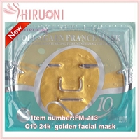 2016 hot sale q10 24k nano gold collagen crystal facial mask for skin care