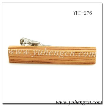 YHT-276 Fashion Mens Wood Tie Bars, Tie Clips