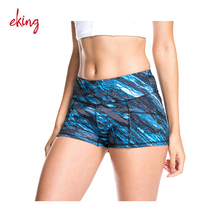 Seamless design Nylon and Spandex/Lycra womens yoga high waist shorts