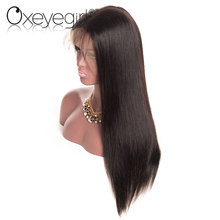 New arrival silk straight human hair frontal wig virgin hair 3/4 wig