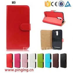 PU Leather Mobile Phone Case for HTC M9,Cell Phone Case For M9