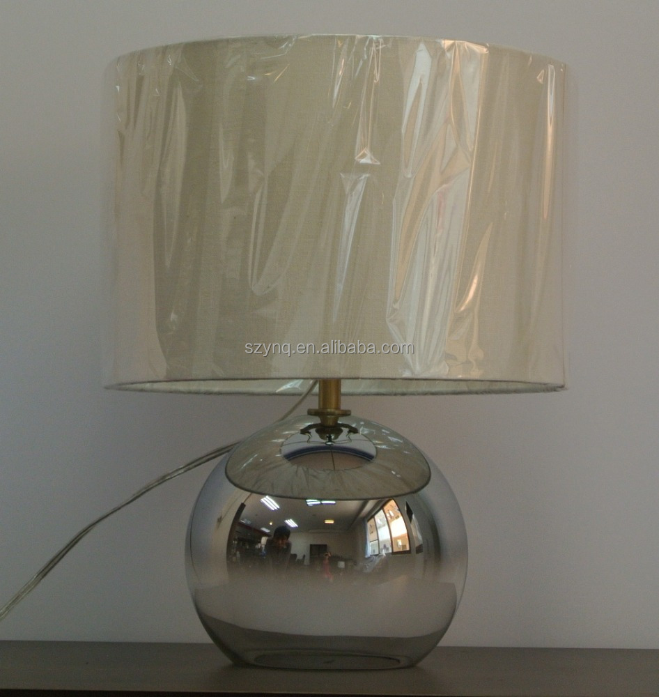 New design ! Electroplated glass ball table lamp for bedroom