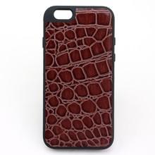 Fatcory Supply in Stock 5 Colors Luxury Crocodile Leather Skin Soft Back Cover for iphone 6 plus case