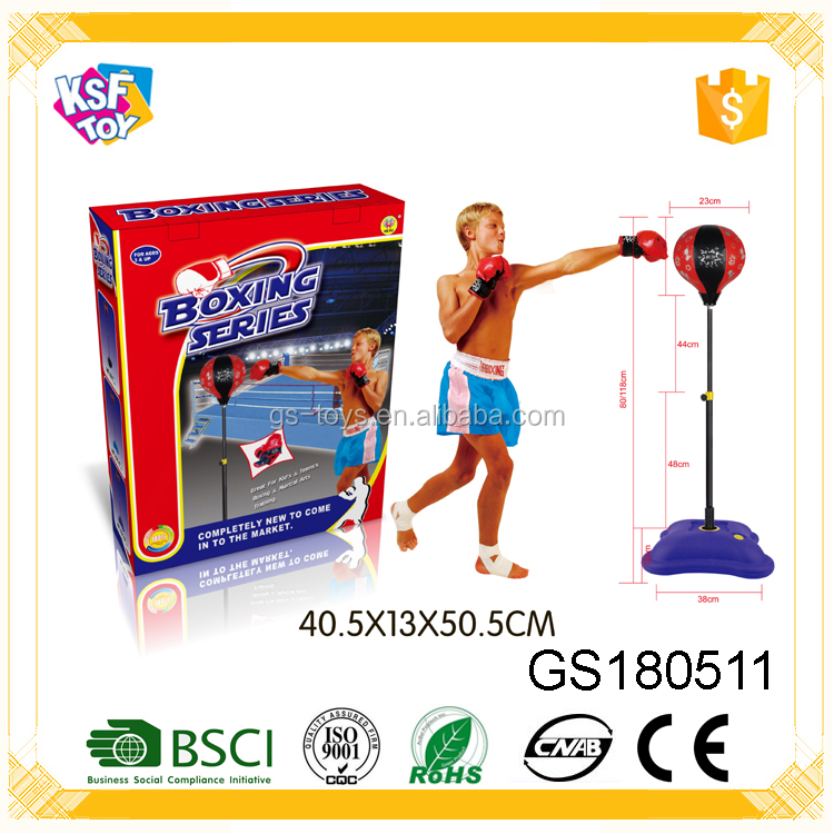 80-118 CM Speed Adjustable Freestanding Punching Ball With Gloves