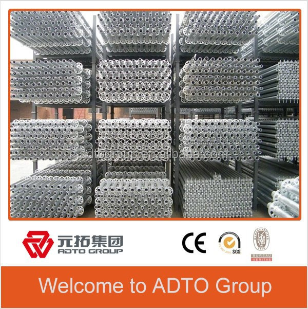 ADTO Factory Price Used Brithish Steel Ringlock Scaffolding Standard with Pin Spigot