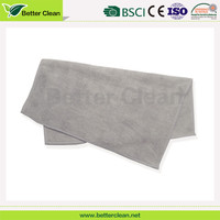 100% polyester material square cleaning microfiber beach towel