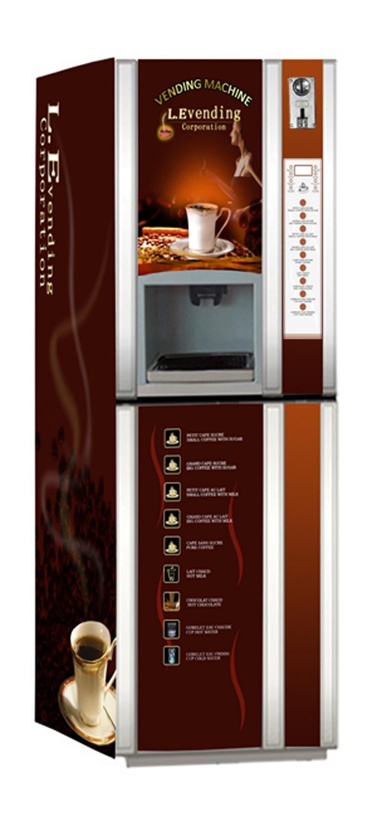 Hot Coffee /water/milk/chocolate Coin Operated Vending Machine ...