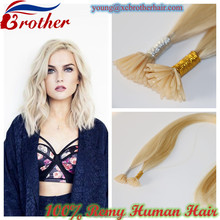 Wholesale Top Quality Keratin I Tip Hair Blonde Virgin Remy Human Hair I Tip Hair Extension