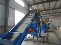 mixed waste plastic bottle recycling washing crushing drying Line
