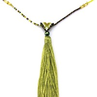 2016 popular many color can be provide tassel latest design beads fancy long chain necklace