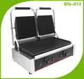 BN-813 Grooved Surface Industrial Contact Panini Grill 4KW