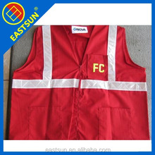 zhejiang fire dept red traffic safety vest manufacture in low price