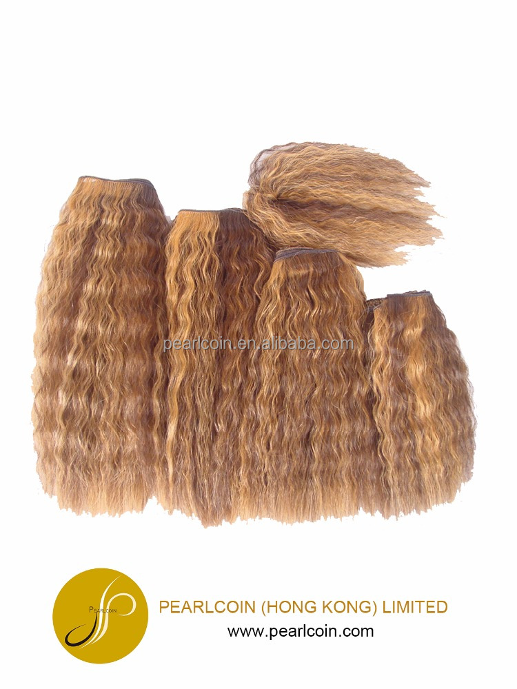 Kinky Hair Extensions Blonde Multi Pack Weaving with Closure 100% Futura Fiber