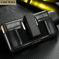 Luxury Leather Male Waist Clip Case flip cover cell phone case for iPhone 6 6S