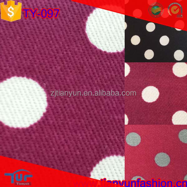 classical polka dot printing woven wholesale indonesia cotton printed fabric