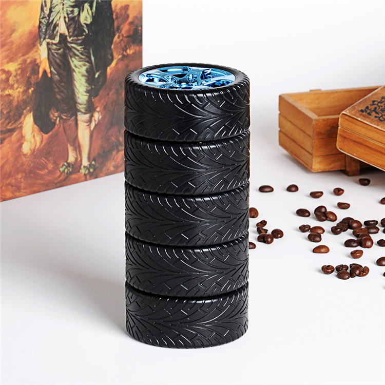 Novelty Car Wheel Shaped Stainless Steel Coffee Mug Tyre For Promotion