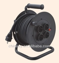 electric extension cable reel with socket outlet switch European standard