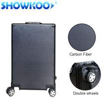 New Products Luxury Suitcase Trolley Hard Case Carbon Fiber Luggage with Aluminum frame TSA lock