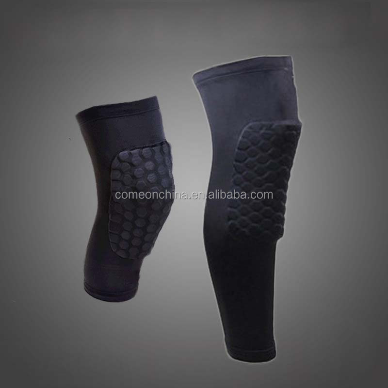 Long Knee Sleeve Protector Gear Honeycomb Pad