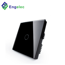 Engelec Wholesale smart home WiFi UK touch <strong>switch</strong> 86*86 1 gang 1way glass PC material touch panel wall smart <strong>switch</strong>