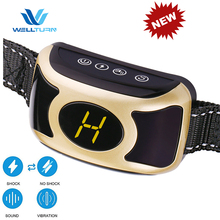 2018 Auto Electronic No Barking Dog Static Shock Training Collar Rechargeable Dog Sound Shock Anti Bark E Collar