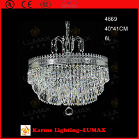 Karme crystal chandelier wedding cake stand light #4669-6L