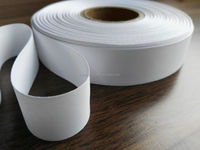 Cheap and good quality label fabric for necklabels, full dull polyester satin ribbon