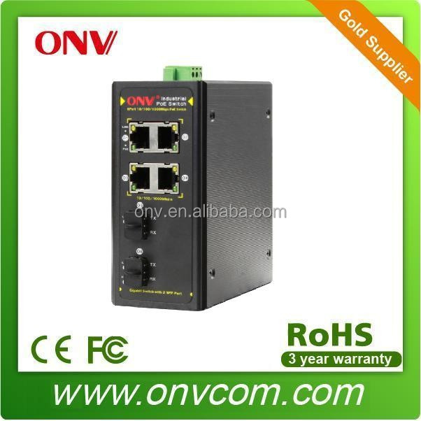 High Power 6 ports Industrial POE Ethernet Switch for Access Piont