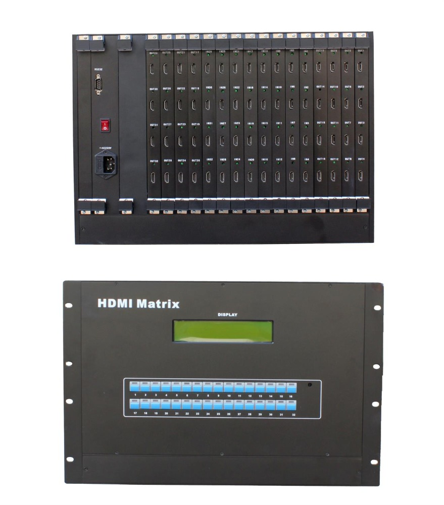 24 port HDMI splitter HDMI Matrix Switcher 32x32 64x64