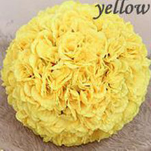 yellow rose artificial flower ball decoration,rose ball decoration