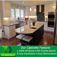 Natural white colour raise panel birch wood kitchen cabinet